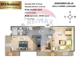 Apartament cu 2 camere in Arca Residence, Calea Feldioare...