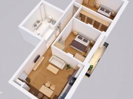 Apartament 3 camere, etaj intermediar, bloc nou