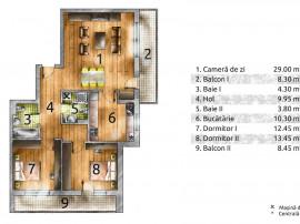 Drumul Taberei/Parc Brancusi/Metrou 800m apartament 3 camere