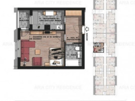 Garsoniera decomandata etaj 1,bloc nou,Brancoveanu adiacent