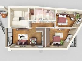 Apartament de vanzare 3 camere 82 MP+TERASA 80 MP Dristor...