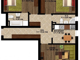 Apartament 3 camere PALLADY
