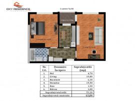 Rahova - Antiaeriana.-Apartament 2 camere Tip B3