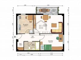 Apartament nou, 2 camere, confort 1, zona Mircea cel Batran