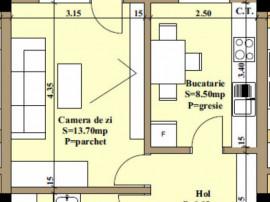 Apartament cu o camera, 42mp, bloc nou