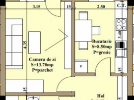 Pret Promotional! Apartament 34mp utili + 9m balcon, bloc no
