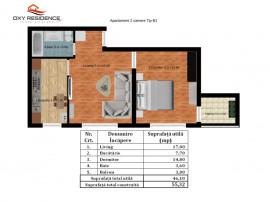 Antiaeriană apartament 2 camere bloc nou-toate utilitatile!