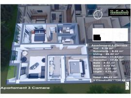 Apartament 3 Camere TIP A - Opal Residence Universitate