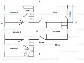 Zona Craiter, 4 camere decomandat, etaj intermediar