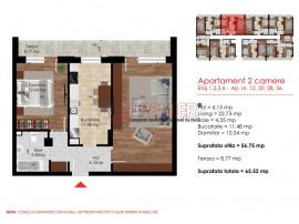 Apartament cu 2 camere de inchiriat -Strada Biruintei