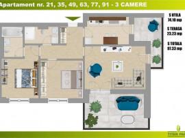 3 Camere Decomandat | Bucatarie Inchisa | Parcul Teilor |...