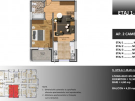 Apartament 2 camere, metrou Berceni - credit Noua Casa