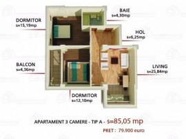 Apartament 3 camere,Tatarasi