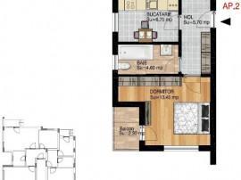 Apartament 2 camere in bloc finalizat Titan-Pallady