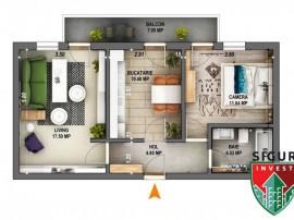 Apartament 2 camere INTABULAT decomandat zona Ciresica