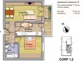 Apartament 2 camere zona dobroesti fundeni