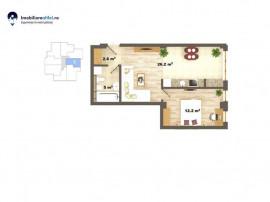 Apartament nou cu 2 camere - open space - 46 mp