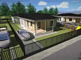 Casa individuala imprejmuita de natura