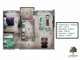 Apartament 2 camere decomandat Green Grove Residence - Comis