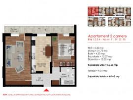 2 camere decomandat 65 mp Berceni-Dimitrie Leonida