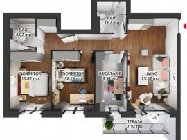 HILS PALLADY apartament 3 camere - Metrou A. Saligny
