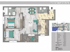 Apartamente 3 camere in Trivale Park | 3C2 A