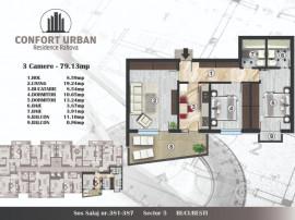 Apartament 3 camere, Confort Urban, Rahova