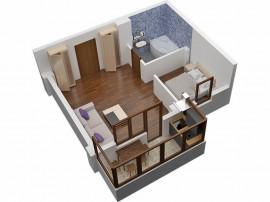 Garsoniera compartimentata 2 camere in Militari Residence