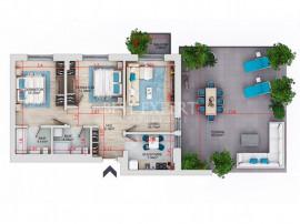 Apartament superb 3 camere cu Terasa de 60 mp Titan - Theodo