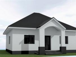 Casa individuala, pe parter cu pod depozitare, 3 camere si 2