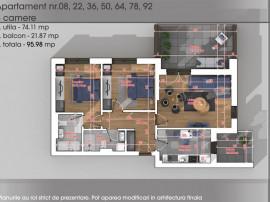 Apartament 3 camere - 1 Decembrie 1918 - Parcul Teilor