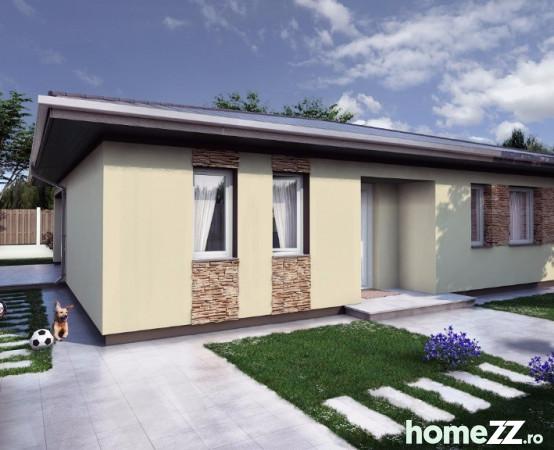 Casa moderna in comuna berceni pe parter sud eur for Casa moderna romania