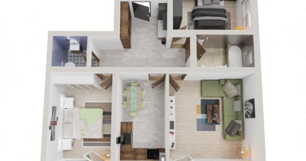 Apartament 3 camere, credit bancar, zona adiacenta Brasov