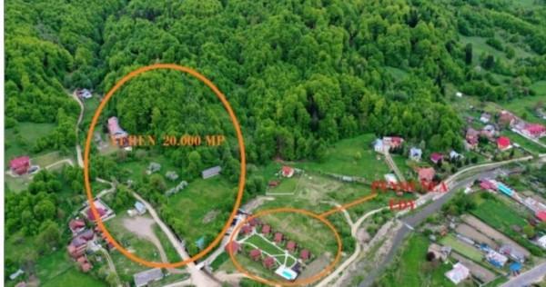 20000 mp, INTRAVILAN, Între Pensiuni Slănic Moldova