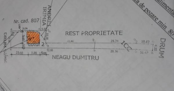 Loc de casa teren 824mp