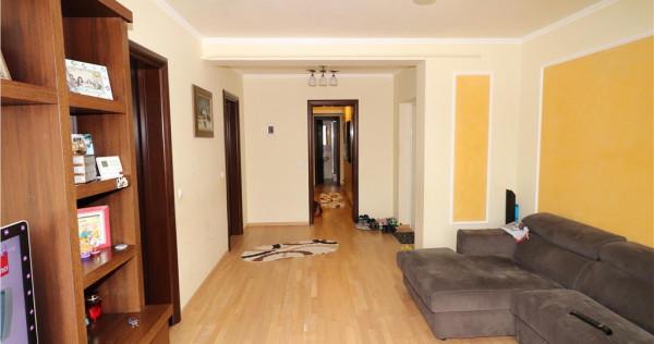 Apartament 3 camere, etaj 1 bloc nou, mobilat si utilat, 2 l