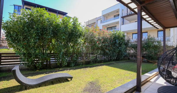 3 camere cu gradină + parcare Pipera Perla Residence
