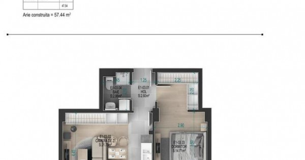 Apartament 2 camere Titan - Metrou Nicolae Teclu