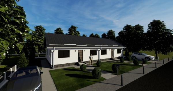 Duplex pe parter 3 camere- in constructie