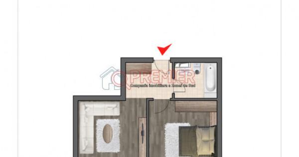 Inchiriez apartament 2 camere-tip studio-Nemobilat-1 min