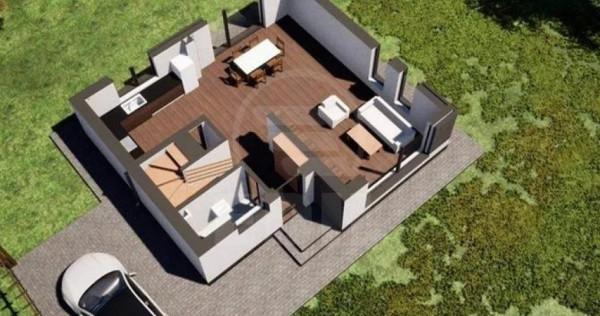 Casa individuala semifinisata in Luna de Sus