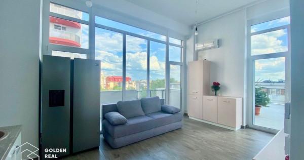 Penthouse in bloc nou cu terasa, Micalaca, Malul Muresului
