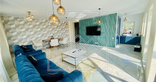Penthouse mobilat si utilat de lux, cu terasa si jacuzzi / C