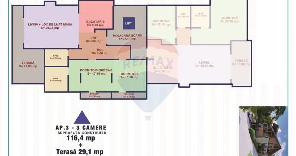 Apartament cu 3 camere de vânzare in Sinaia