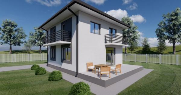 Casa individuala P+1E 4 camere, 400mp curte