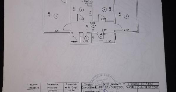 Apartament 3 camere decomandat Radu Negru
