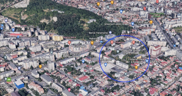 Teren zona Spitalul Judetean la 1 km de AFI Brasov 3223mp