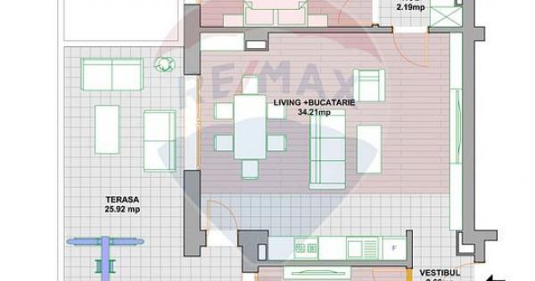 Apartament 3 camere cu terasa de vanzare Ultracentral