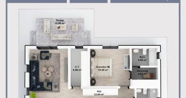 Casa individuala pe parter, 113 mp, 510 mp curte, Balotesti