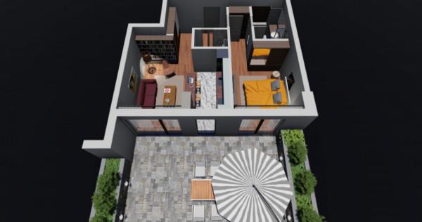 Unirii Fantani - Apartament 2 camere cu 59 mp de gradina - s